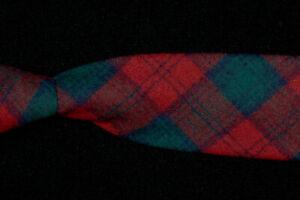 Vintage 70s PENDLETON Tie, Christmas Red Green Tartan Thick Wool USA