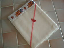 Handmade Baby bedding Pr CREAM 50/50 Polycotton CribSheets/Winnie the Pooh Satin