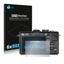 6x Panasonic Lumix DMC-GF1 Displayschutzfolie Klar Transparent Schutzfolie