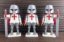 Playmobil Knights Crusader Figures Shields Swords Castle Knights Templar 3 Lot