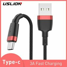 USLION USB Type C Cable 3m For Samsung Galaxy A50 S10 S9 Huawei P30 3.1 Fast Cha