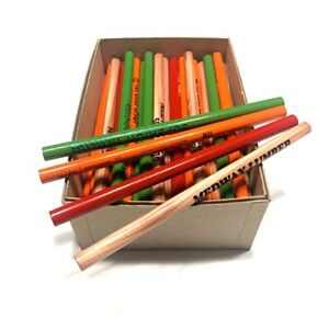 Jumbo Round Un-Tipped Carpenter Pencils 72-Pack, USA Made; Misprints