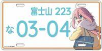 Yuru Camp Nadeshiko License plate style aluminum plate  anime Laid-Back Camp