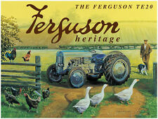 Ferguson TE20 Tractor Farm Old Vintage Classic Heritage Small Metal/Tin Sign