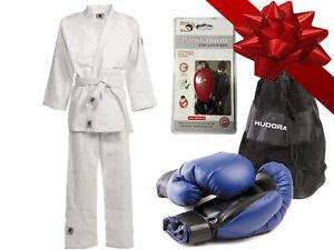 Geschenk-Set Kinder Kampfsport Anzug+Boxhandschuhe