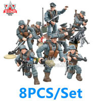 6PCS Set Mini Soldiers Military France US Britain Army Weapon Figures COD