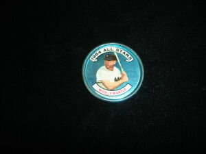 Original 1964 Topps All Stars Baseball Coin Mickey Mantle NY Yankees #131 (left)