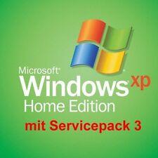 ** WINDOWS XP HOME  MIT SP3 - DEUTSCHE, UNREGISTRIERTE VOLLVERSION **