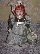 """Antique Jumeau Lyric / Bru Repro Milette Mohair Glass Eyes 11"""" Jointed Bisque"""