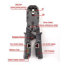Network Cable Crimper Tool Pliers Tester LAN Ethernet RJ45/RJ11/RJ9 6P DEC 4P 8P