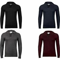 New Mens Warm Knitted Sweater Long Sleeve High Neck Jumper Top Button Pullover