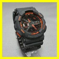 New Casio G-Shock GA-110TS-1A4 Matte Dark Grey Orange XL Water Resist LED Watch