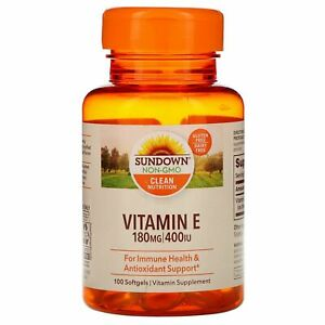 Vitamin E, 180 mg (400 IU), 100 Softgels Exp 08/2023