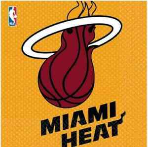 Miami Heat NBA Pro Basketball Sports Banquet Party Paper Luncheon Napkins