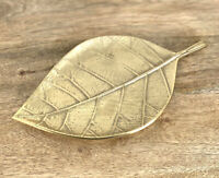 Gold Leaf Dish Ideal for Trinkets & Valuables L31.5 xW16.2cm Lovely Home Decor