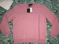 $395 Polo Ralph Lauren Mens Italian Cashmere Pullover Knit Sweater Medium XL L