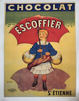 """Reprint 20th Century French Poster for """"Chocolat Escoffier"""" by T. Coulet 15""""x18"""""""