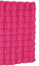 Ruffle Fabric Shower Curtain  Color Pink