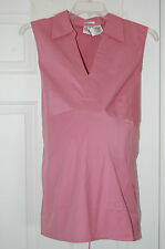 New Plus Size DUO Maternity Sleeveless Blouse *PINK* 2X