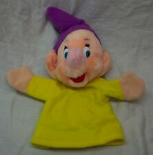 "VINTAGE Disney Snow White DOPEY DWARF HAND PUPPET 10"" Plush Stuffed Animal Toy"