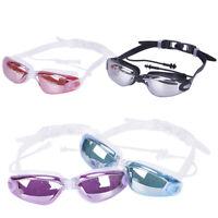 Silicone Swimming Goggles Anti-fog Swimming Glasses With Earplug for Men WomenBI
