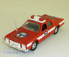 Matchbox 1:43 Plymouth Gran Fury Fire Car K78/SA