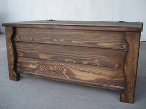 Wooden Blanket Box Coffee Table Trunk Vintage Chest Wooden Ottoman Toy Box (AL2)