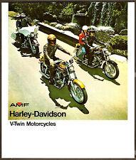 1975 HARLEY-DAVIDSON BROCHURE SUPER GLIDE ELECTRA SPORTSTER XLH XLCH FX FXE FLH