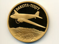 Israel State Medal:Bronze,IDF * Dakota Airplane * 50mm,2002