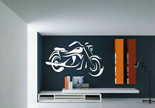 Wall Vinyl Sticker Room Decals Mural Design Bike Motorcycle Speed Sport bo1690
