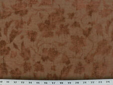 Drapery Upholstery Fabric Raised Leaf & Vine Chenille - Copper on Olive Green