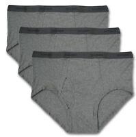 Big & Tall Men's Underwear 3-PACK BRIEFS All Gray 2XL – 5XL