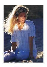 "Crochet Pattern Ladies Summer Cardigan PATTERN ONLY 30-40"" 4-ply ±wen37"