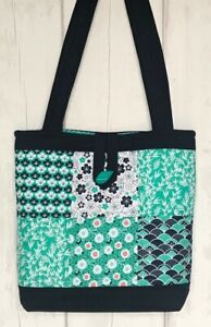Quilted Patchwork Tote Bag Kit Kyoto Jade Japanese inspired fabrics