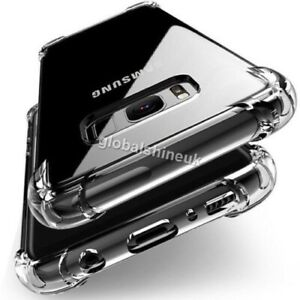 For Samsung Galaxy S8 S9 Plus Clear Shockproof Silicone TPU Phone Case Cover