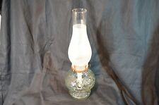 Antique Honeycomb Design Old Clear Glass Oil Lamp