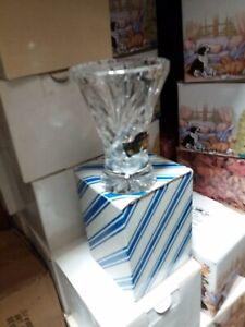 9cm.24% Lead Crystal Cut Glass Vase.