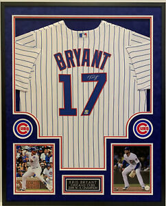 KRIS BRYANT CHICAGO CUBS AUTOGRAPHED CUSTOM FRAMED JERSEY FANATICS AUTHENTIC