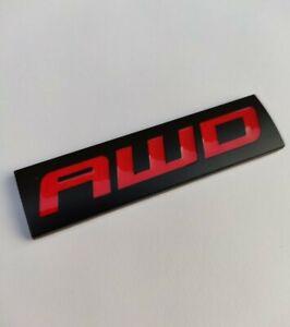 AWD Rouge Noir Métal Tout Roue Lecteur 4 Badge Emblème pour Honda Crv Civic