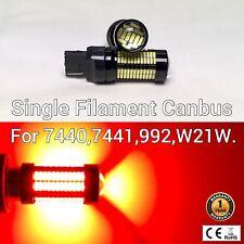 Rear Turn Signal Lights T20 7440 7441 992 108 W21W SMD Red LED Bulb M1 MA