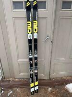 Vintage Dynamic MD60 Skis 177cm Made In Fracne Salomon 626 Bindings 1980s