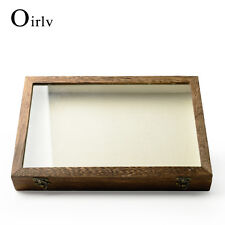 Oirlv Jewelry Display Case Collectibles Storage Box Glass Top Lid for collecting