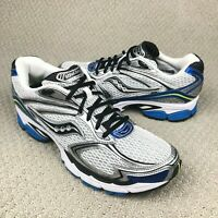 EUC Saucony ProGrid Guide 4 Men's Running Shoes Gray/Silver/Blue/Black Size 9
