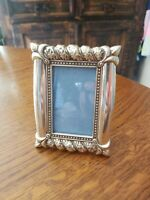 """BEAUTIFUL ORNATE VINTAGE METAL BURNS OF BOSTON PICTURE FRAME HOLDS 2"""" X 3"""""""