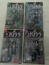 NEW Set of 4 KISS McFarlane Toys Ultra Action Figures 1997 ~ Gene Peter Ace Paul