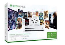 Xbox One S 1TB Starter Bundle with 4k Ultra Blu-Ray Microsoft - White
