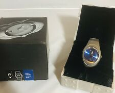 New In Box Oakley Timebomb X-Metal Titanium Band With Blue Dial Rare Collectible