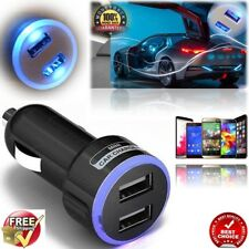 NEW BLACK IN CAR CHARGER FOR APPLE iPHONE 7/6/5/4 MOBILE PHONE SAMSUNG LG SONY