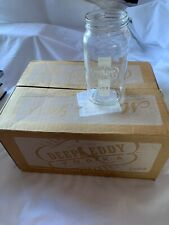 Glass mason jar cup Deep Eddy Vodka 12 oz Austin Texas, SET OF 12 With Open Box