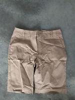 Talbots Beige Khaki Bermuda Womens Flat Front Shorts Size 6